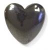 Hematite 10mm Heart